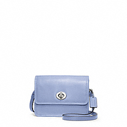 COACH LEATHER MINI  CROSSBODY - SILVER/CHAMBRAY - F48005