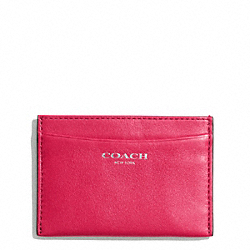 COACH LEATHER CARD CASE - ONE COLOR - F48010