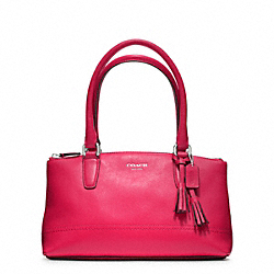 COACH LEGACY LEATHER MINI RORY BAG - SILVER/PINK SCARLET - F48016