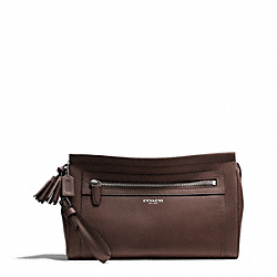 COACH LEATHER LARGE CLUTCH - SILVER/MIDNIGHT OAK - F48021