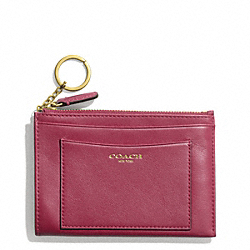 COACH LEATHER MEDIUM SKINNY - BRASS/DEEP PORT - F48030