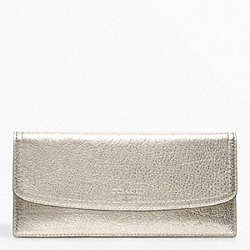 COACH METALLIC LEATHER SOFT WALLET - ONE COLOR - F48035