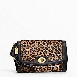 COACH PINNACLE LARGE FLAP CLUTCH - BRASS/MULTICOLOR - F48042