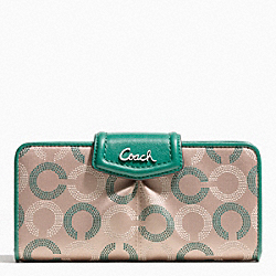 COACH ASHLEY DOTTED OP ART SLIM ENVELOPE - ONE COLOR - F48050