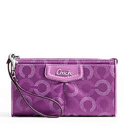 ASHLEY DOTTED OP ART ZIPPY WALLET
