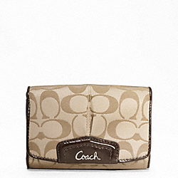 ASHLEY SIGNATURE SATEEN COMPACT CLUTCH