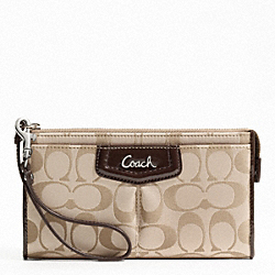 ASHLEY SIGNATURE SATEEN ZIPPY WALLET