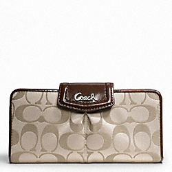 COACH ASHLEY SIGNATURE SATEEN SLIM ENVELOPE - ONE COLOR - F48096