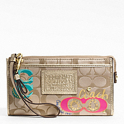 DAISY POP C APPLIQUE ZIPPY WALLET
