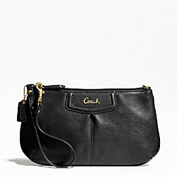 COACH ASHLEY LEATHER LARGE WRISTLET - ONE COLOR - F48103