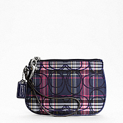 SIGNATURE STRIPE TARTAN SMALL WRISTLET