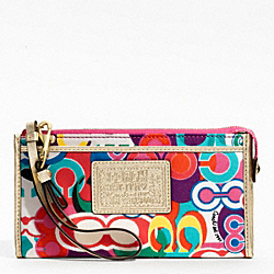 DAISY POP C PRINT ZIPPY WALLET
