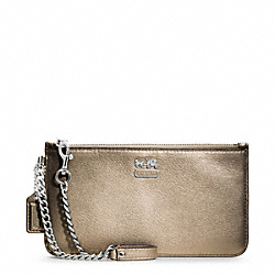 COACH MADISON METALLIC LEATHER CHAIN WRISTLET - ONE COLOR - F48177