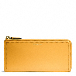 COACH LEATHER SLIM ZIP - ONE COLOR - F48178