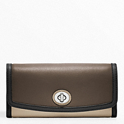 COACH COLORBLOCK SLIM ENVELOPE - SILVER/BLACK MULTI - F48182