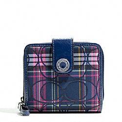 SIGNATURE STRIPE TARTAN SLIM MEDIUM WALLET