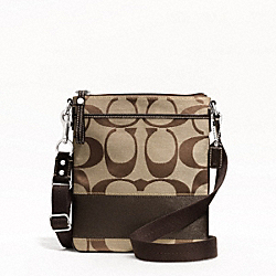 SIGNATURE STRIPE SWINGPACK COACH F48391