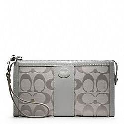 COACH SIGNATURE ZIPPY WALLET - ONE COLOR - F48439