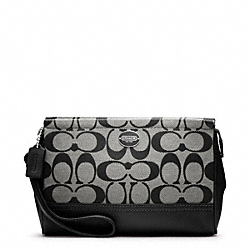 COACH SIGNATURE LARGE WRISTLET - SILVER/BLACK/WHITE/BLACK - F48442
