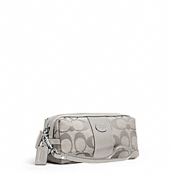 COACH SIGNATURE COSMETIC CASE - SILVER/GREY - F48444