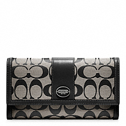 COACH SIGNATURE CHECKBOOK WALLET - ONE COLOR - F48445