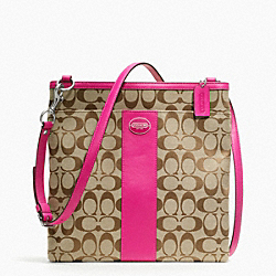 LARGE SIGNATURE FABRIC SWINGPACK COACH F48446