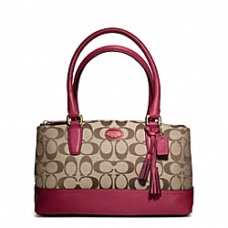 COACH MINI  SIGNATURE FABRIC RORY BAG - BRASS/KHAKI/DEEP PORT - F48448
