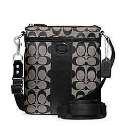 SIGNATURE SWINGPACK - SILVER/BLACK/WHITE/BLACK - COACH F48452