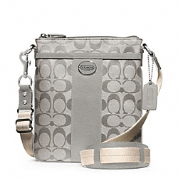 COACH SIGNATURE SWINGPACK - SILVER/GREY - F48452