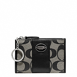 COACH SIGNATURE MINI SKINNY - SILVER/BLACK/WHITE/BLACK - F48454