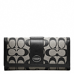 COACH SIGNATURE SLIM ENVELOPE - SILVER/BLACK/WHITE/BLACK - F48462