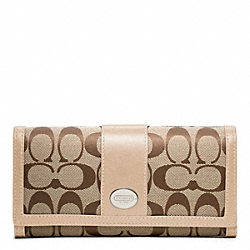 COACH SIGNATURE SLIM ENVELOPE - ONE COLOR - F48462