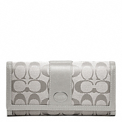 COACH SIGNATURE SLIM ENVELOPE - SILVER/GREY - F48462