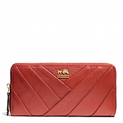COACH MADISON DIAGONAL PLEATED LEATHER ACCORDION ZIP - ONE COLOR - F48490