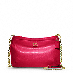 COACH MADISON LEATHER ZIP CROSSBODY - ONE COLOR - F48515