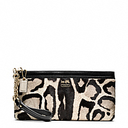 COACH MADISON HAIRCALF ZIP CLUTCH - ONE COLOR - F48526