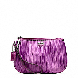 COACH MADISON PLEATED SATIN MEDIUM WRISTLET - ONE COLOR - F48544