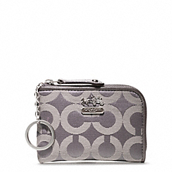 COACH MADISON OP ART SATEEN MINI L ZIP - ONE COLOR - F48547