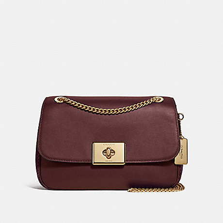 COACH LARGE CASSIDY CROSSBODY - WINE/IMITATION GOLD - F48627