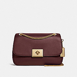 LARGE CASSIDY CROSSBODY - WINE/IMITATION GOLD - COACH F48627