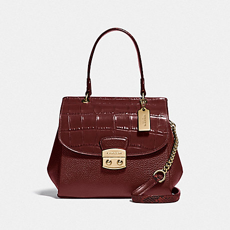 COACH AVARY CROSSBODY - WINE/IMITATION GOLD - F48628