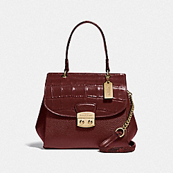 AVARY CROSSBODY - WINE/IMITATION GOLD - COACH F48628
