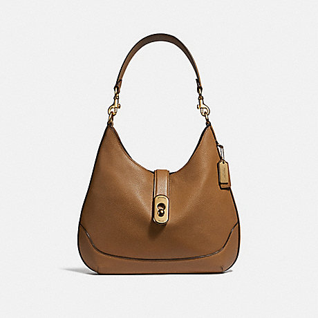 COACH AMBER HOBO - LIGHT SADDLE/IMITATION GOLD - F48635
