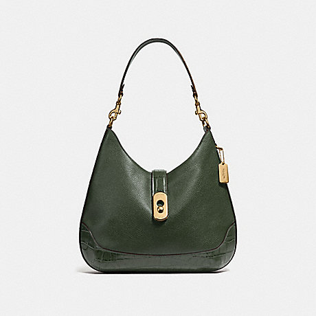 COACH AMBER HOBO - IVY/IMITATION GOLD - F48636