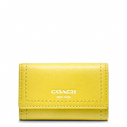 LEATHER 6 RING KEY CASE - SILVER/LEMON - COACH F48661