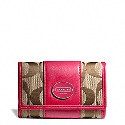 COACH SIGNATURE SIX RING KEY CASE - ONE COLOR - F48662