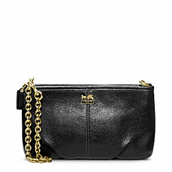 MADISON LEATHER LARGE WRISTLET WITH CHAIN - f48669 - 31894