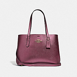 AVENUE CARRYALL - IM/METALLIC WINE WINE - COACH F48734