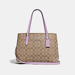 AVENUE CARRYALL IN SIGNATURE CANVAS - KHAKI/JASMINE/SILVER - COACH F48735