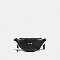 BELT BAG IN SIGNATURE LEATHER - BLACK/IMITATION GOLD - COACH F48741
